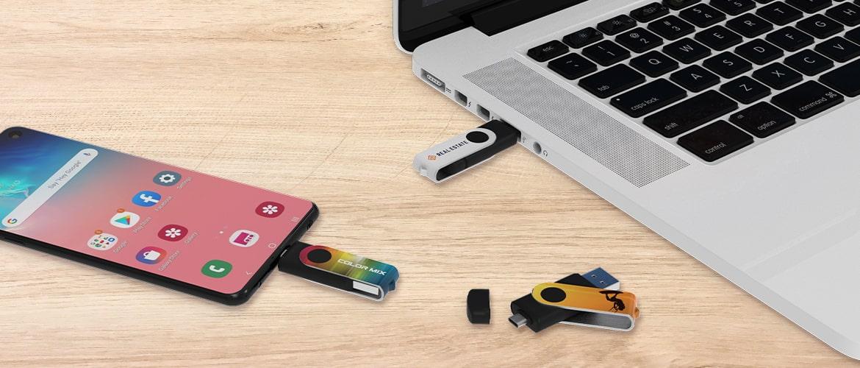 Bedrukte USB Sticks